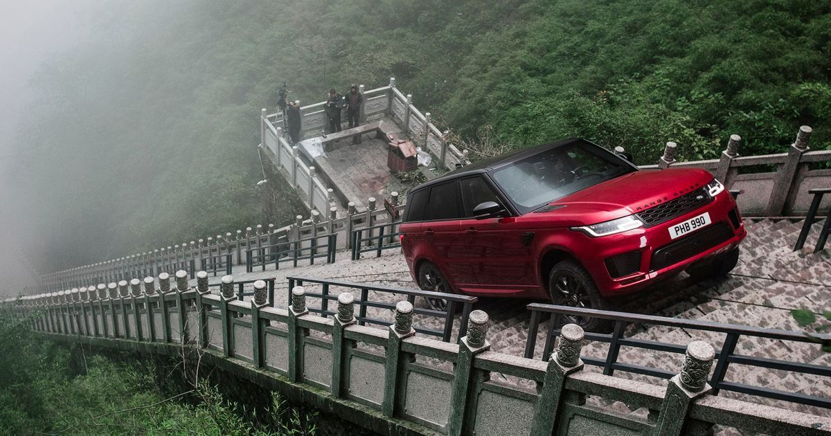 Watch A Range Rover Sport P400e Attempt An Insane 999Step