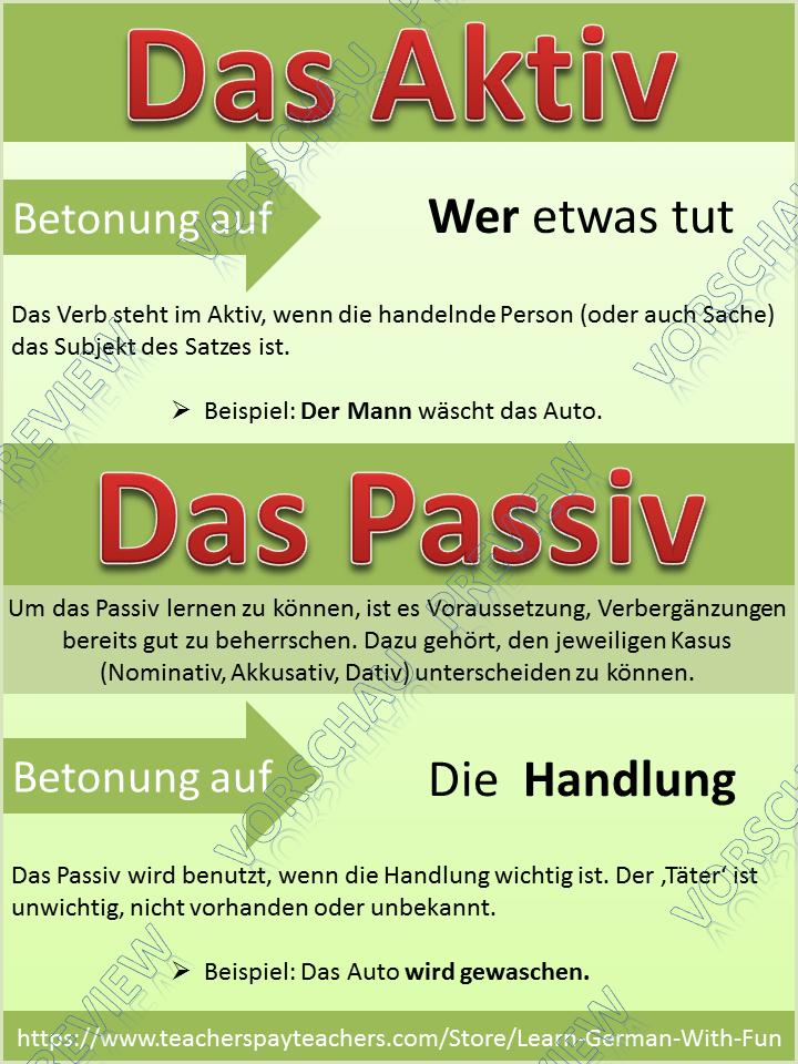 German Grammar- Deutsch Grammatik Aktiv und Passiv- Übungen ...