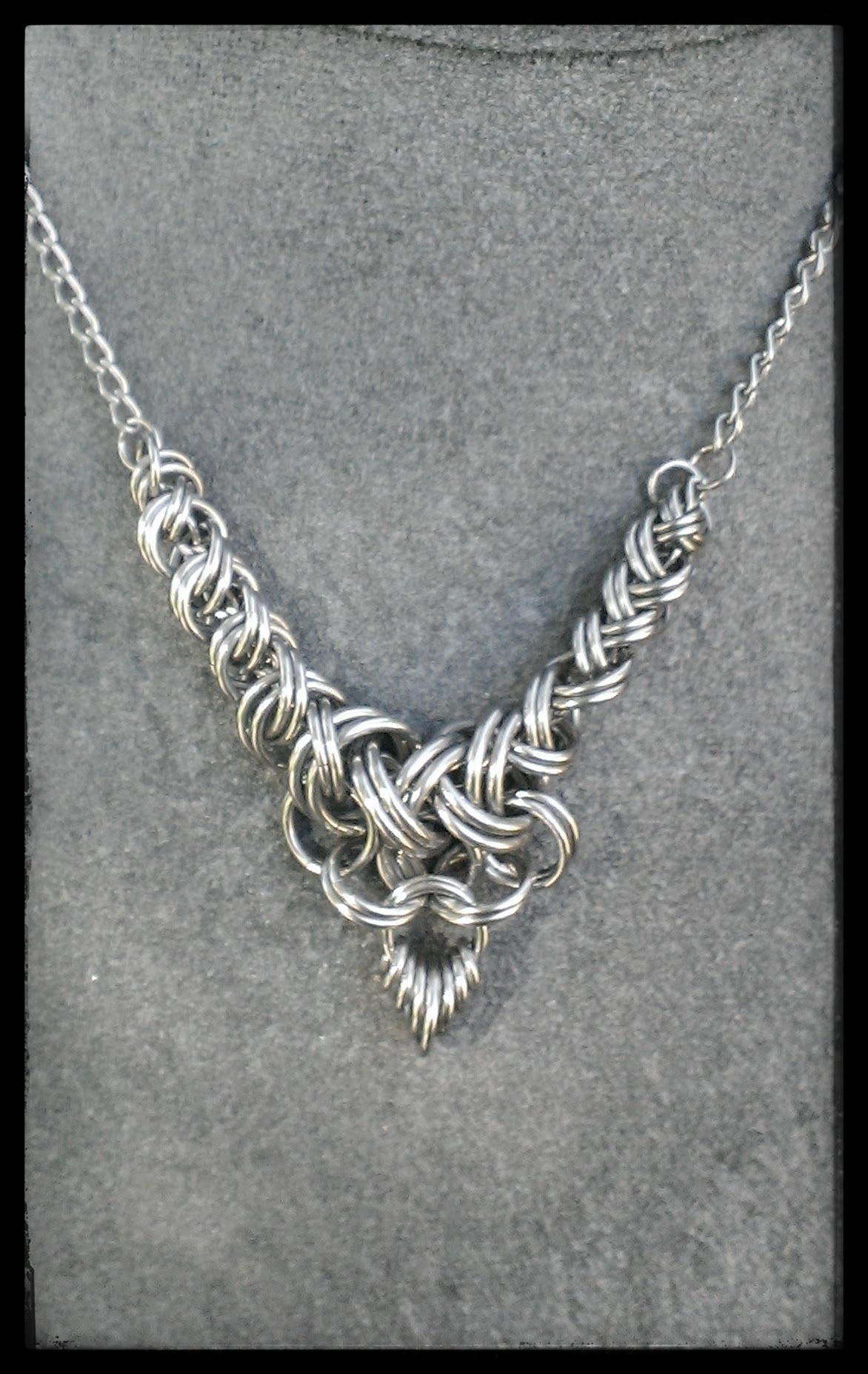 Stainless steel 2 in 2 weave necklace....just because! | chain mail ...