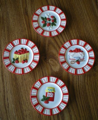 Small Decorative Plates Sets: How To Make Strawberry Jam Mini Plates Set Of 4