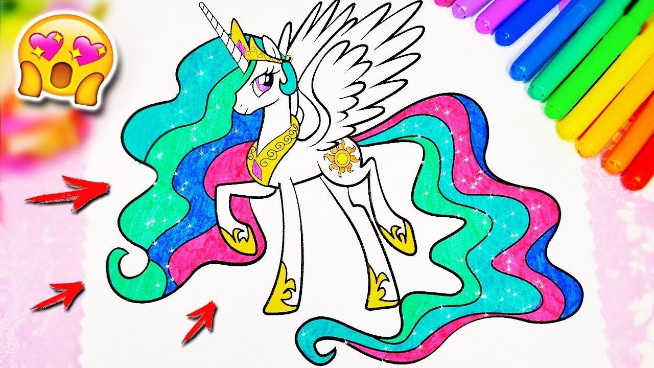 Раскраска Принцесса Селестия Май Литл Пони. My Little Pony ...