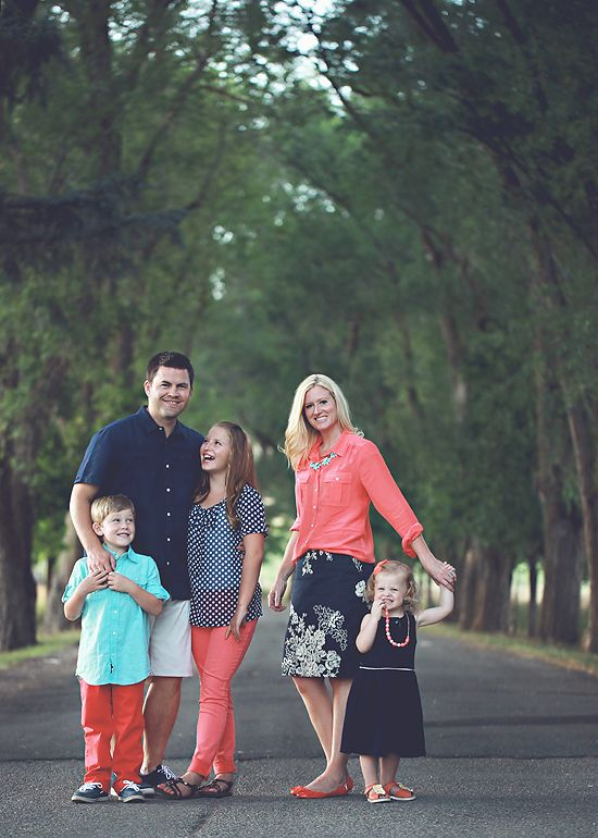 Navy coral family pictures