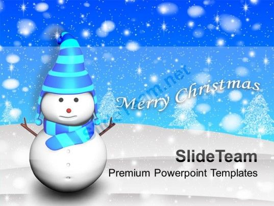 Christmas Ornament 3d Snowman Holidays Powerpoint Templates Ppt - winter powerpoint template