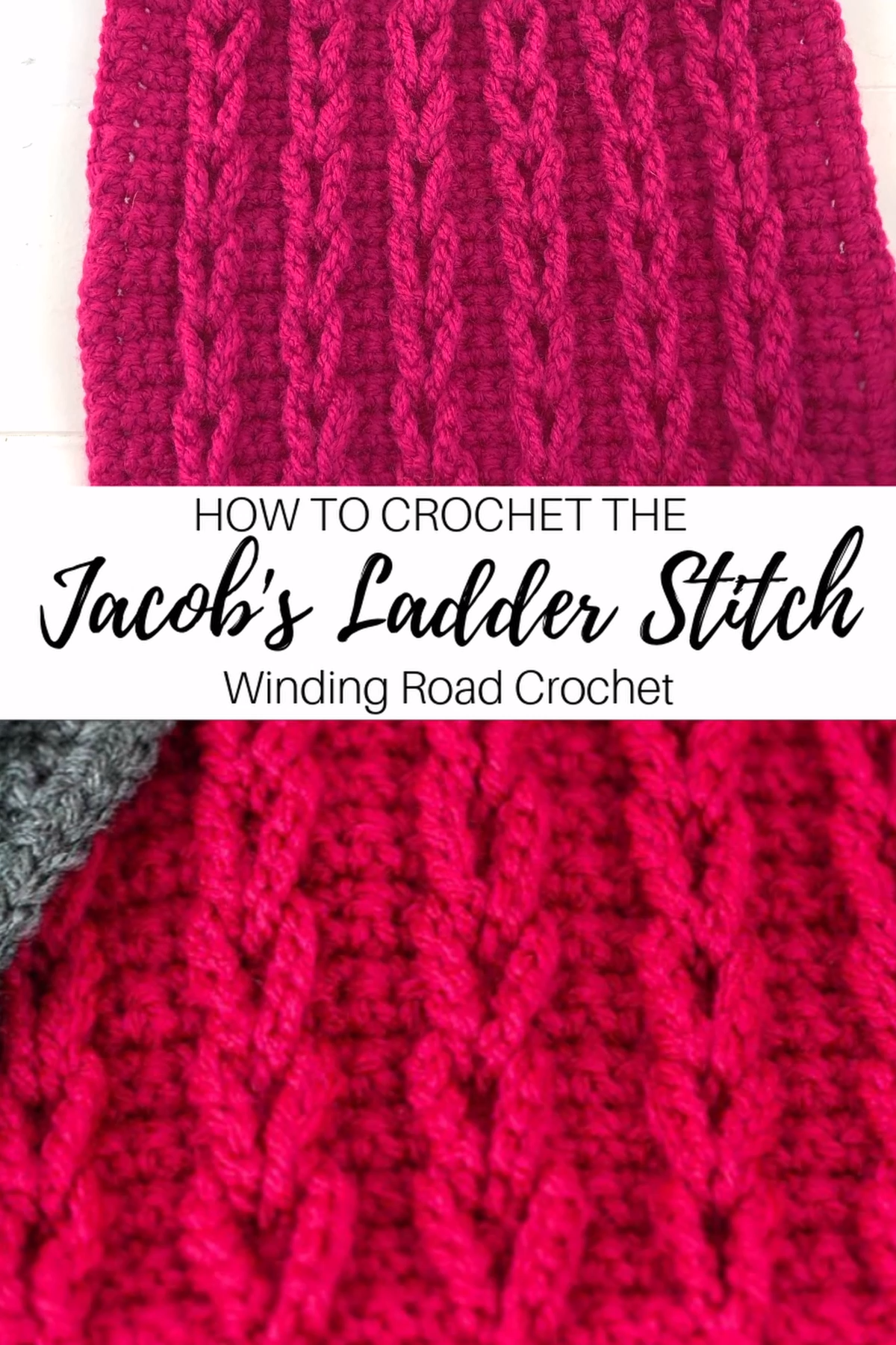 How to Crochet: jacob's Ladder Stitch Video Tutorial -  Learn to crochet chain cables or jacob's ladder stitch with this video and photo tutorial. #crochet #crochetstitch #crochetvideotutorial #jacobsladder Crocheters don't use pointy knitting needles or machines to generate the tasks; they will make use of a single crochet hook. The actual land could be small or large, or maybe any kind of measurement within between. It would typically possibly be crafted from metallic, light weight aluminum,