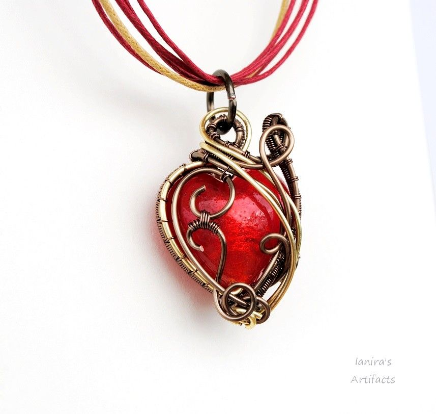 This is a custom order.I used enameled copper wire in gunmetal and ...