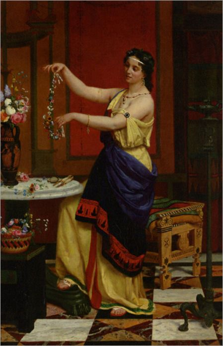 Zier Francois Edouard Le Collier De Fleurs 1873 Arte Roma