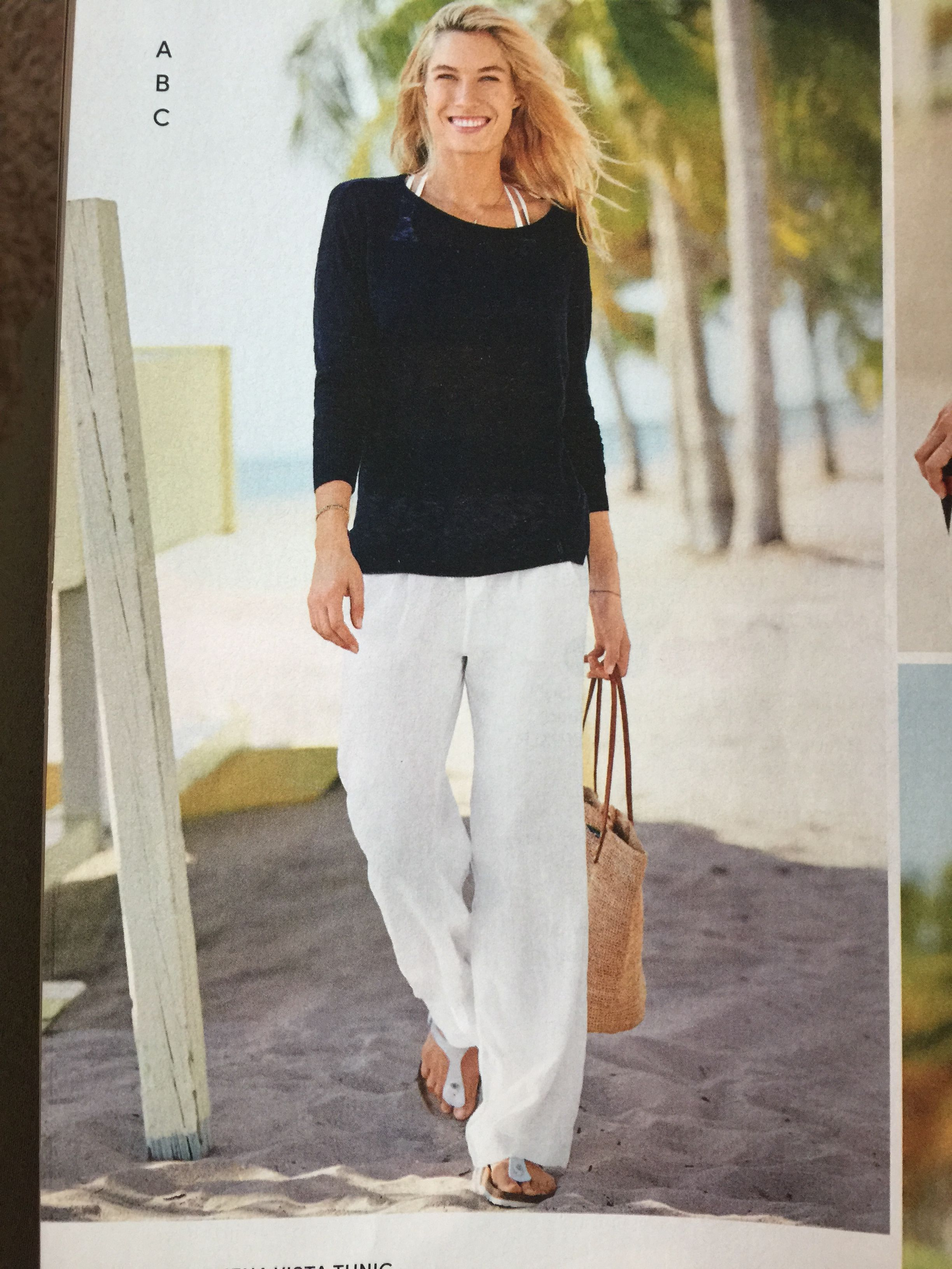 80f587a554 Pin by Suzie Huffman on Outfits in 2019 | Linen pants outfit, Linen ...