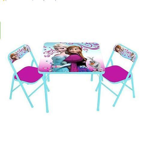 frozen table chairs set kids folding table and chairs kids table toddler table frozen - Folding Table And Chairs
