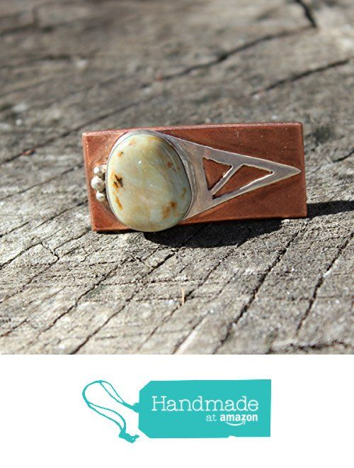 California Blue Green Jasper set in Sterling Silver & Copper Statement Ring - Size 7 from Silver and Slag http://www.amazon.com/dp/B01BEGZN3W/ref=hnd_sw_r_pi_dp_2XITwb0SRH3DM #handmadeatamazon