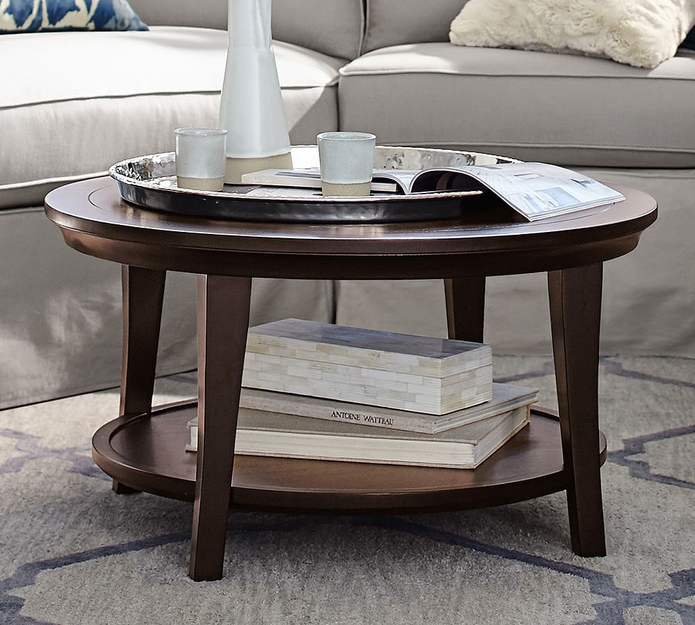 Metropolitan Round Coffee Table Coffee Table Pottery Barn Round