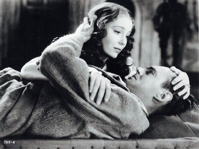 Colin Clive and Valerie Hobson in The Bride of Frankenstein 1935