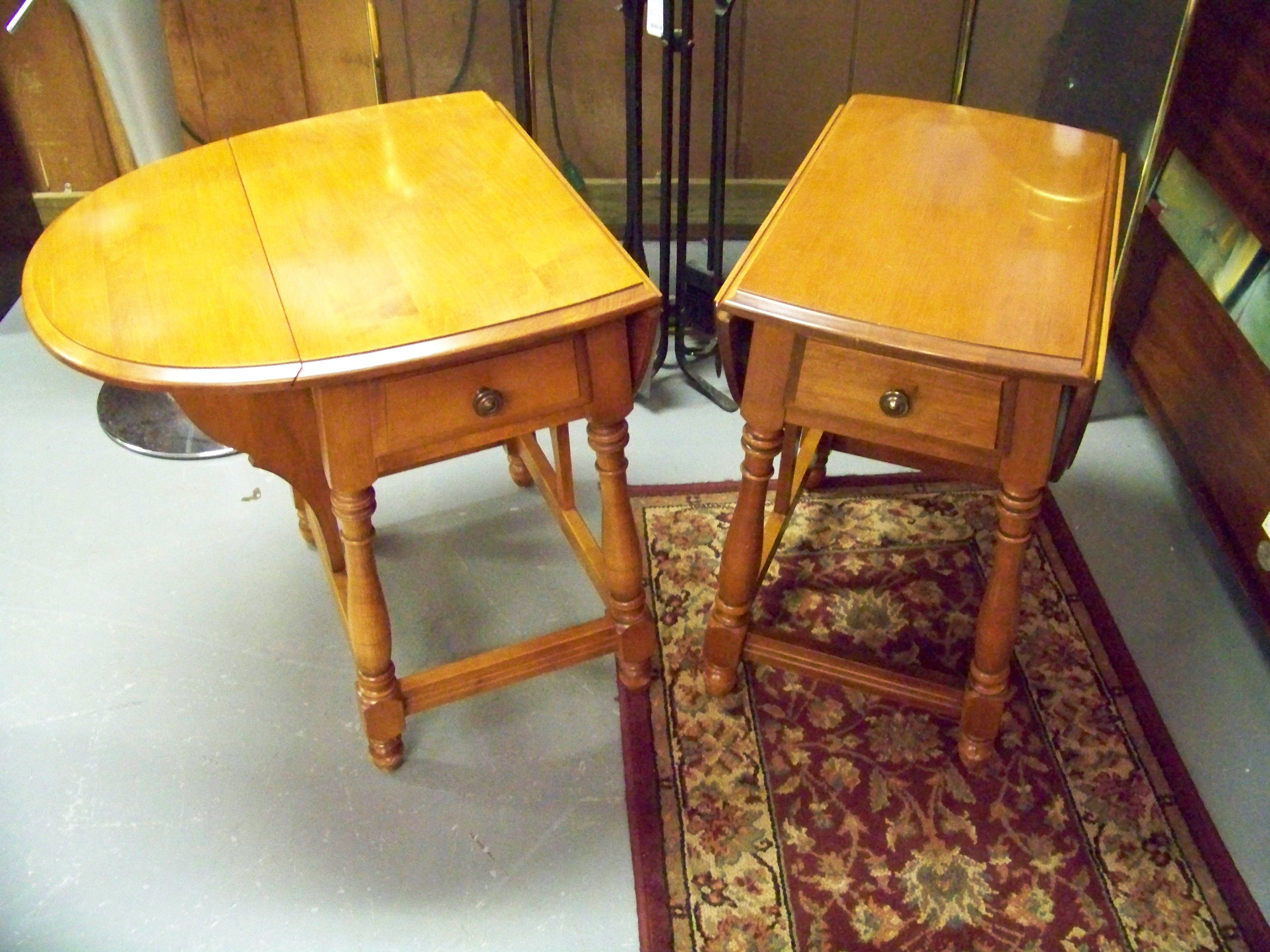 Pair Maple Hitchcock End Tables. Www.chconsignment.com