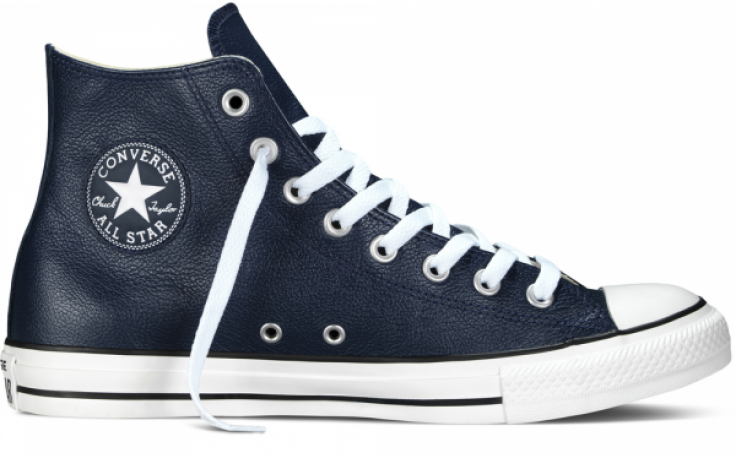 Converse Chuck Taylor All Star Leather HI Navy | Landed Tienda Online #moda  #converse