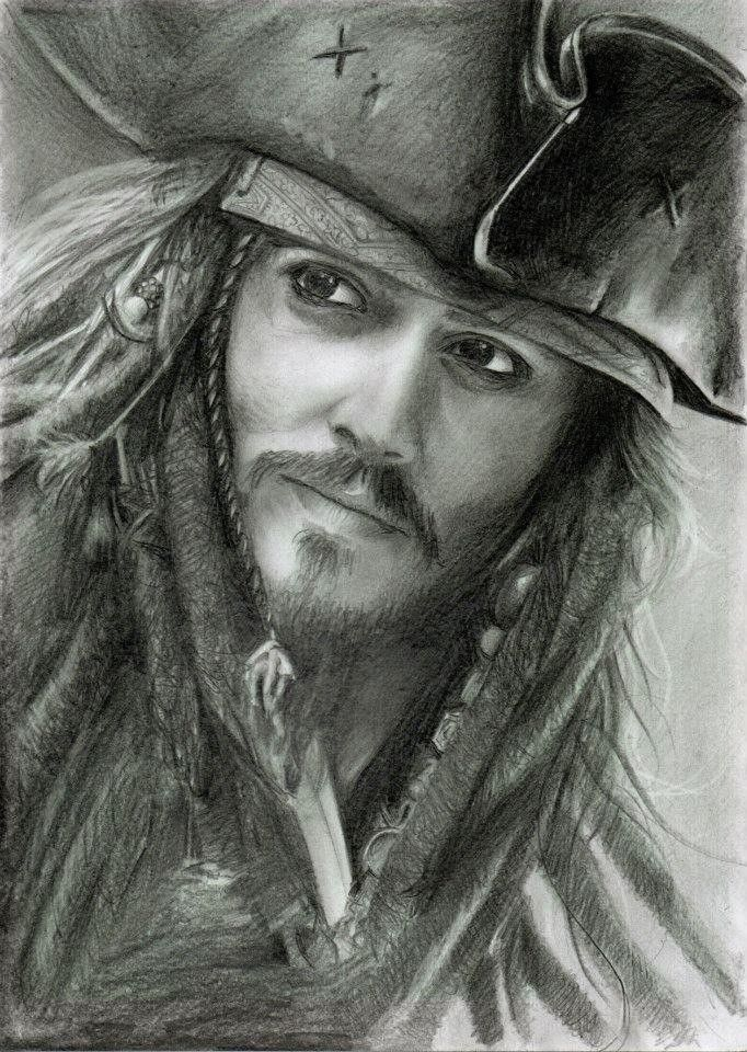Pin Von Matheus Santos Auf Johnny Depp Spatz Zeichnung