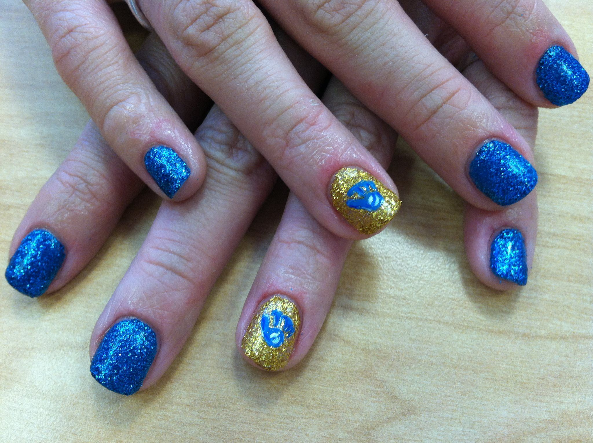 Brewers Nails by Steph #brewers #milwaukee #nailart   Nails We Love ...