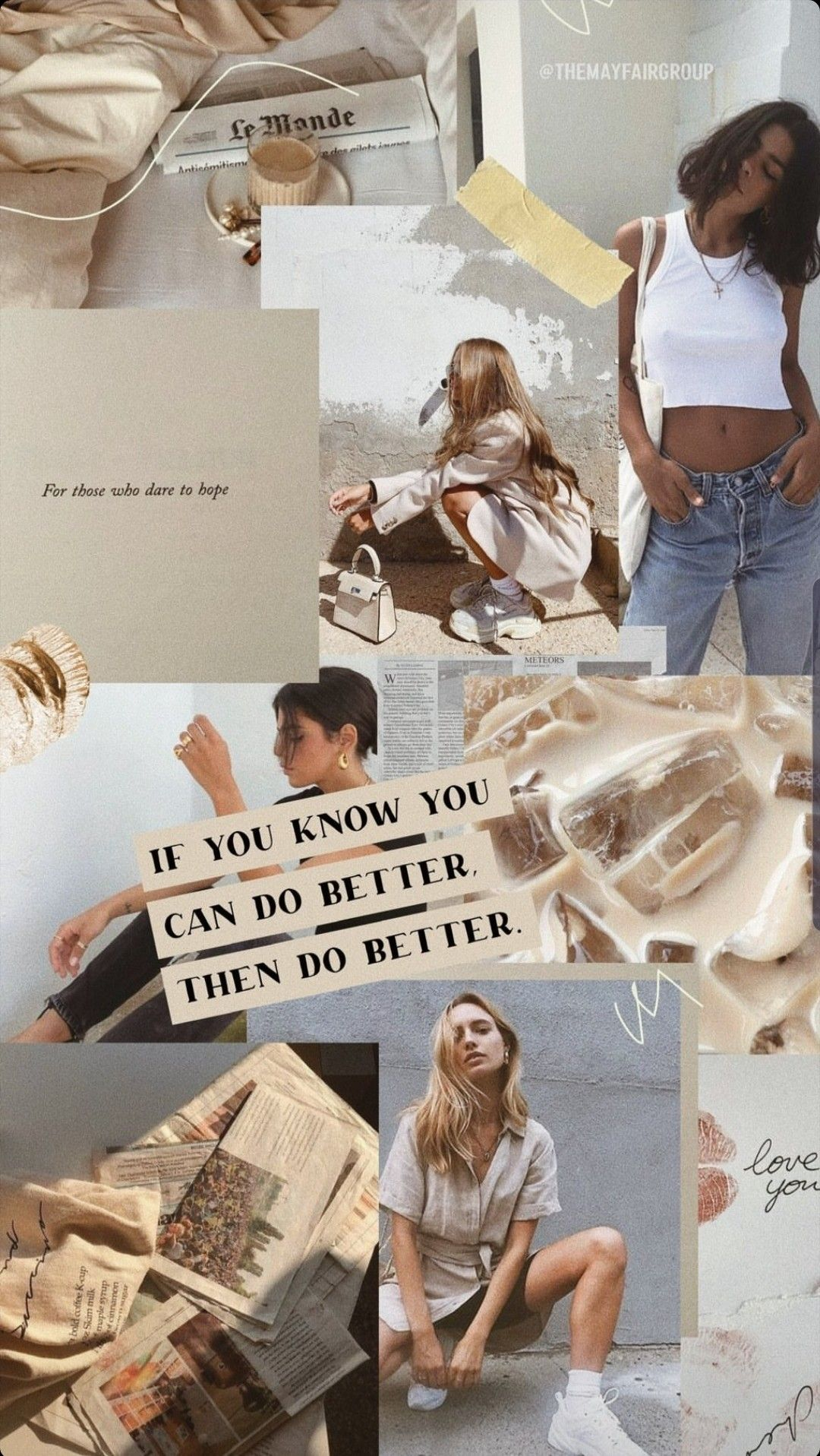 Do Better Iphone Wallpaper Vintage Aesthetic Iphone Wallpaper Collage Background