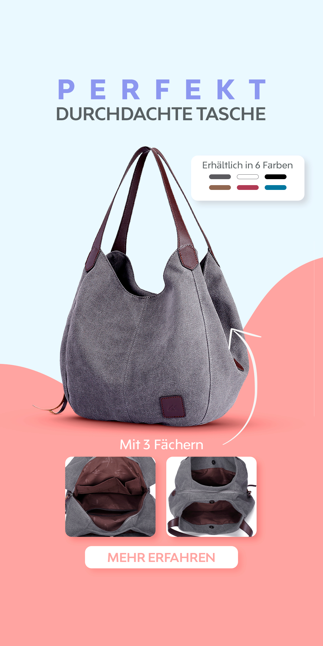 Photo of The perfectly thought-out bag. The Eliana impresses with its great design and …