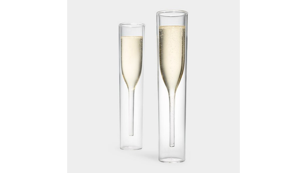 Brag-Worthy Wedding Gifts for Your Favorite Newlyweds | Inside Out Champagne Glasses by Alissia Melka Teichroew