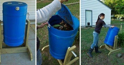 Cómo Hacer Una Compostera Giratoria Bioguia Como Hacer Composta Como Hacer Un Huerto Compost Casero