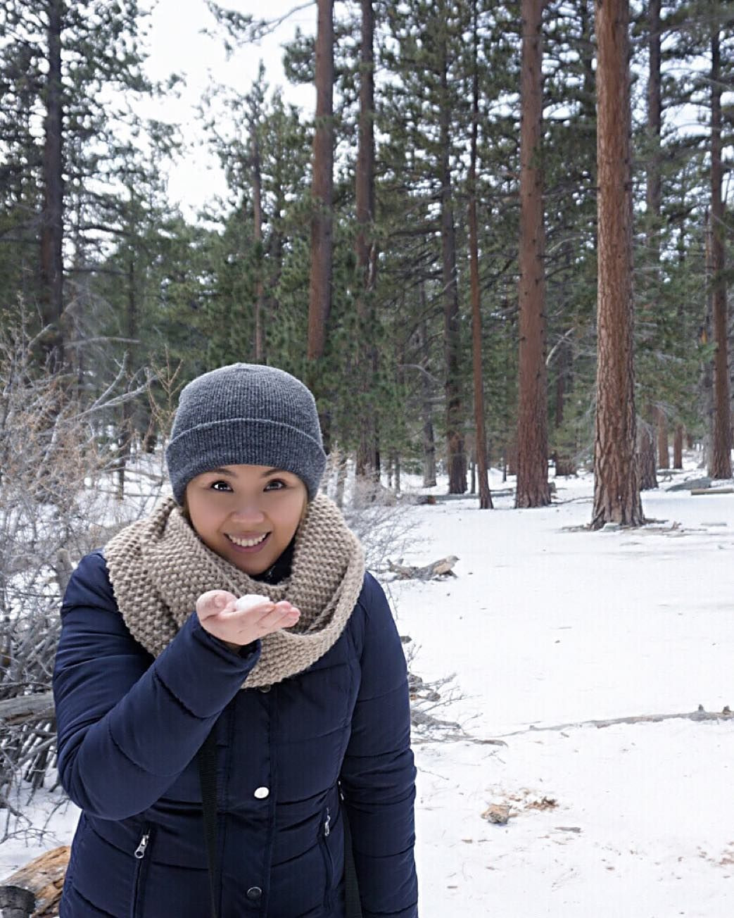 Who said it doesn't snow in #California? At least on top of Mount San Jacinto it does! Here's to my first snow/snow fall experience! Snowflakes are amazing! #Winter2015