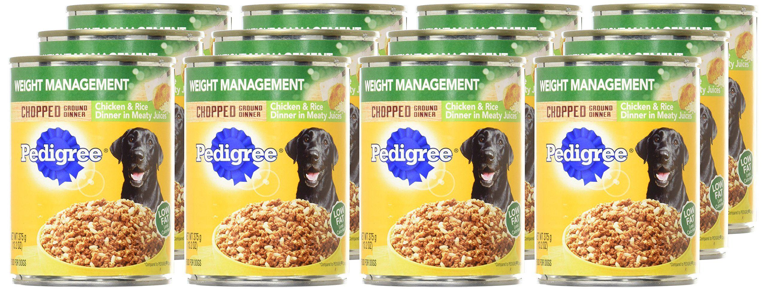 Pedigree Chopped Ground Dinner Weight Management Chicken And Rice