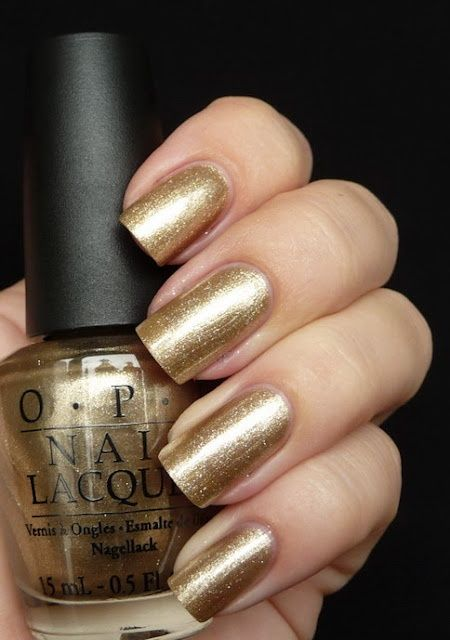 Opi Glitzerland Swiss Collection For Fall Color Shimmer Foil Champagne Very Pale Bronze Gold Cool Toned Skin Can Be Neutral Or Dressy