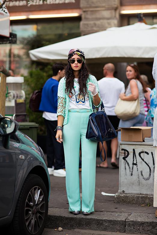 aqua with a turban. Milan.