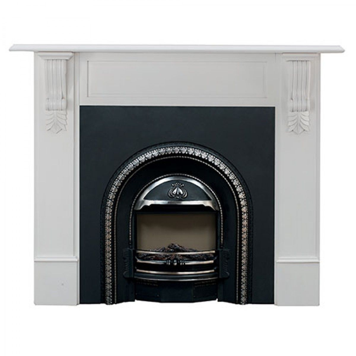 regent electric fireplace with richmond mantel white package
