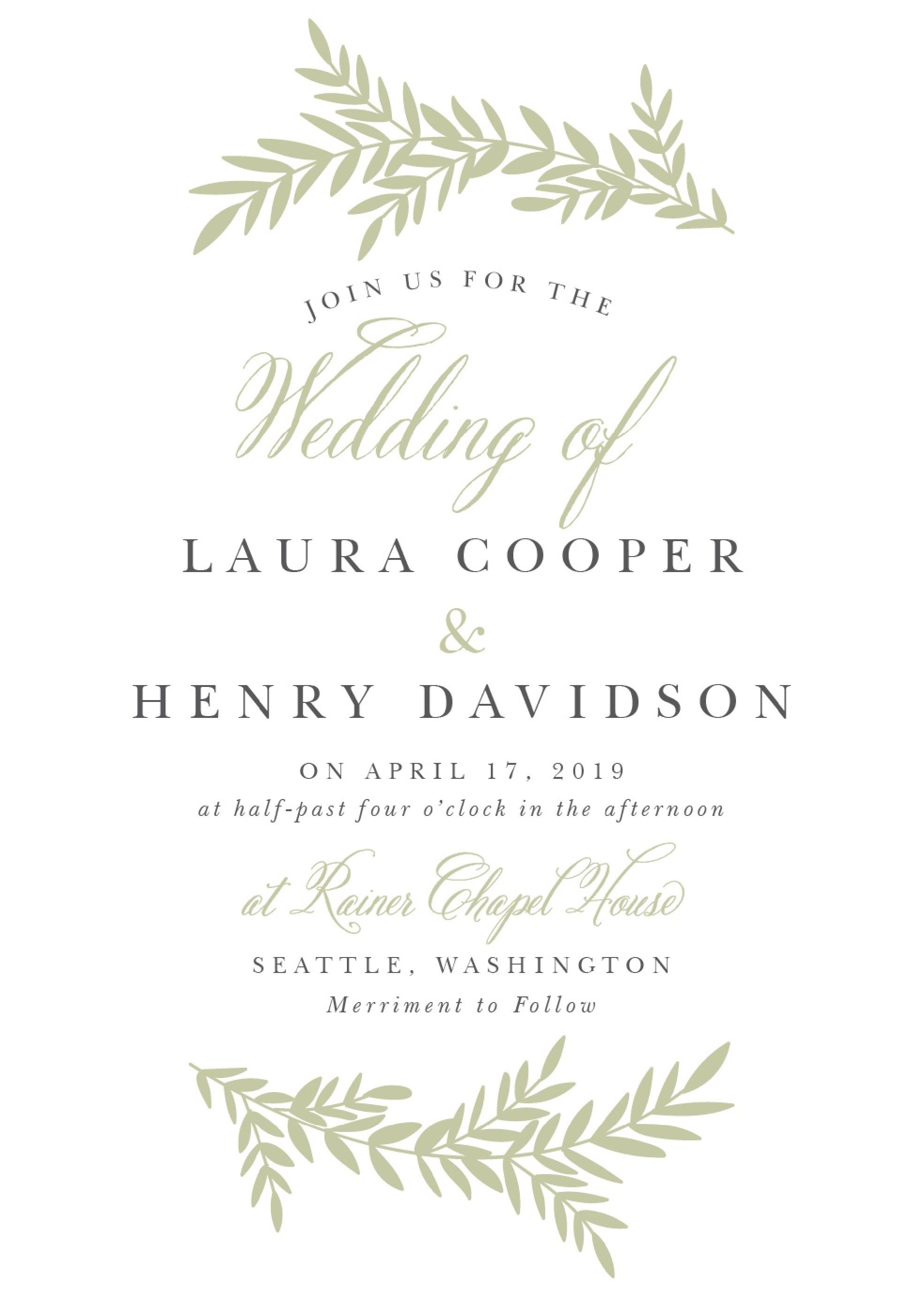 Wedding Invitation Template Card Wedding Invitation Wording Templates Wedding Invitation Etiquette Wedding Invitations Examples