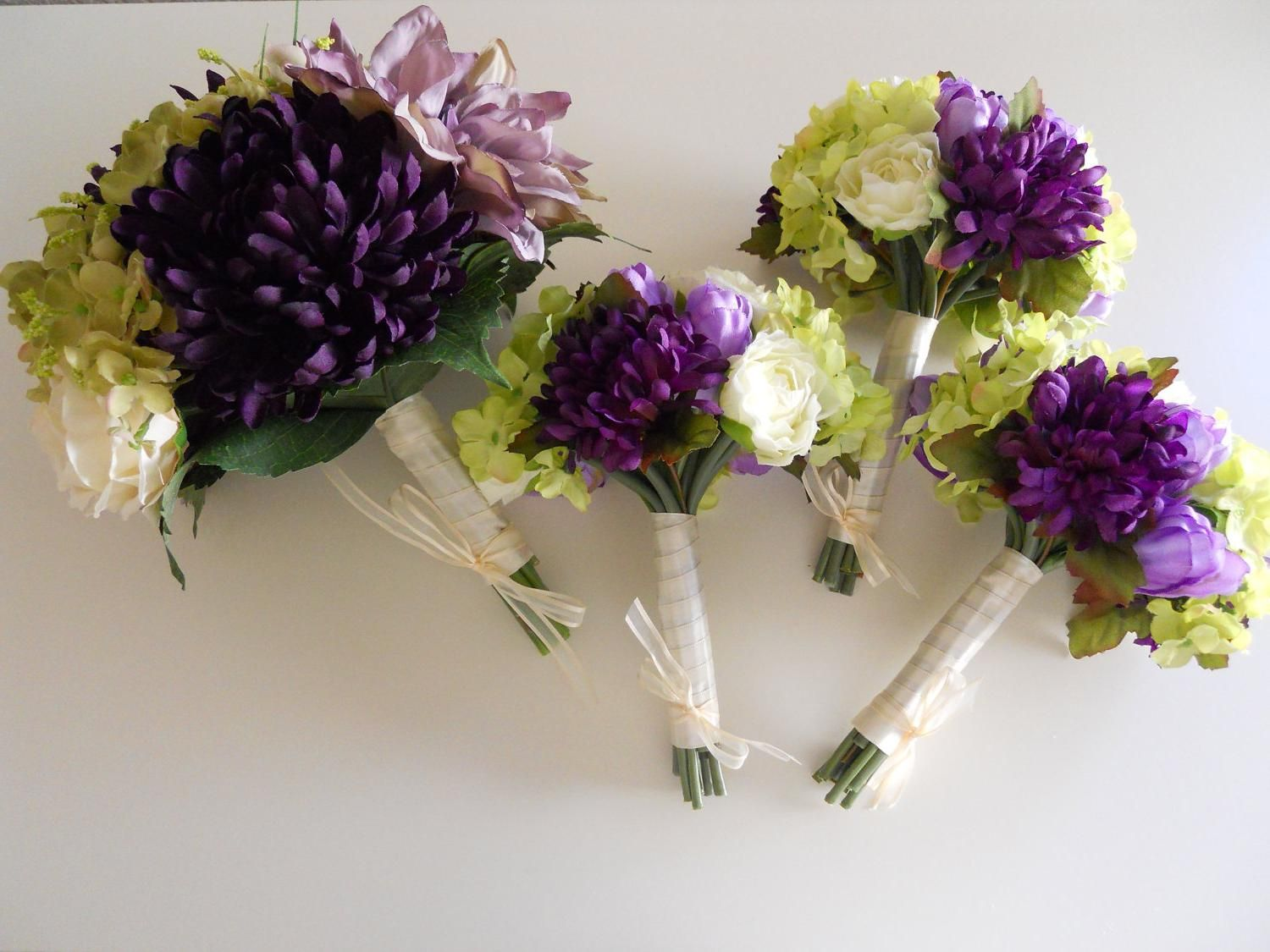 Purple And Green And Ivory Wedding Flowers Purple Ivory And