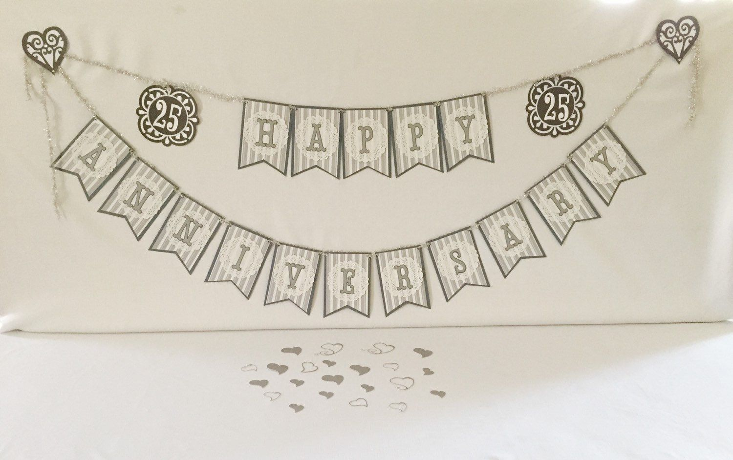 25th Anniversary Party Package, Anniversary Party Bundle, Silver ...