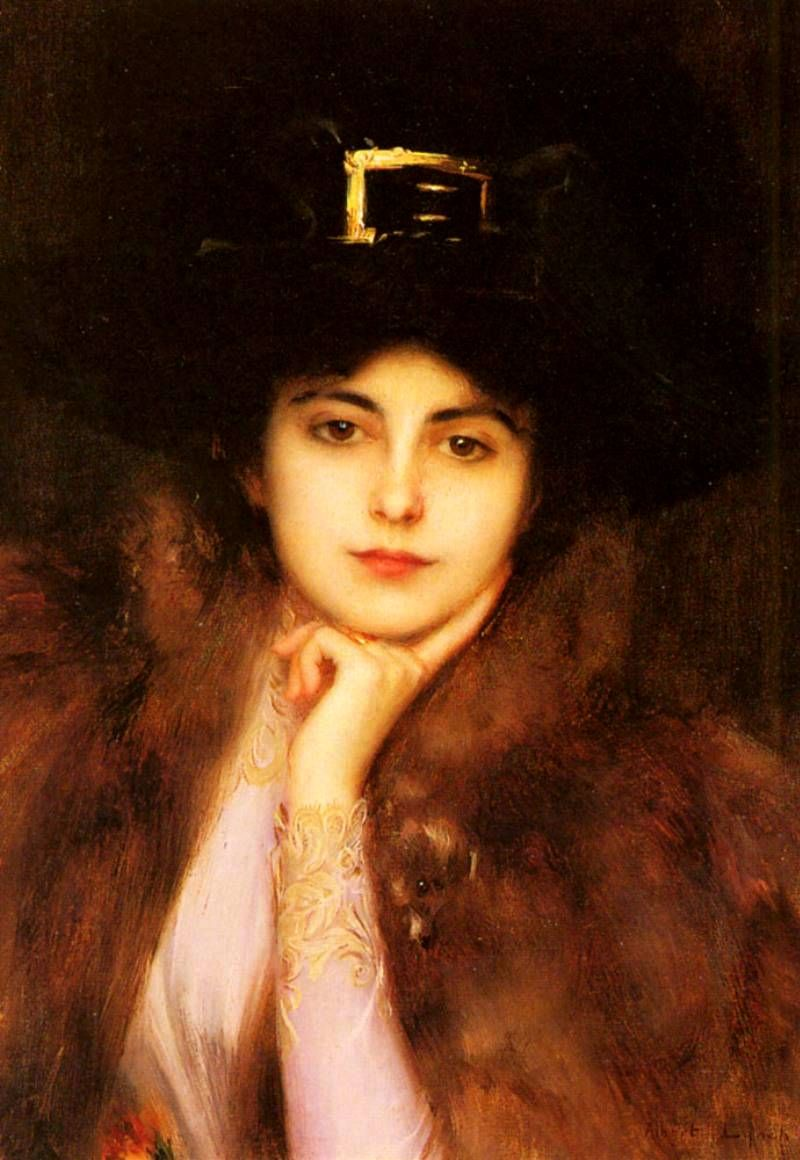 Portrait of a woman by Albert Lynch