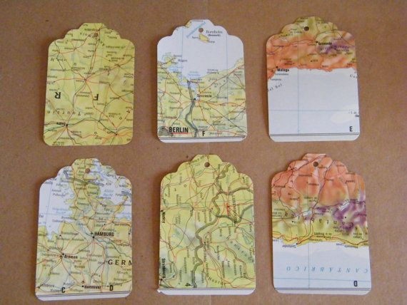 Cheap for 150 of these bad boys can hang them on little bottles of 100 large gift tags recycled world and street atlas tags destination wedding favor tags diy gift tags die cut map tags gumiabroncs Gallery