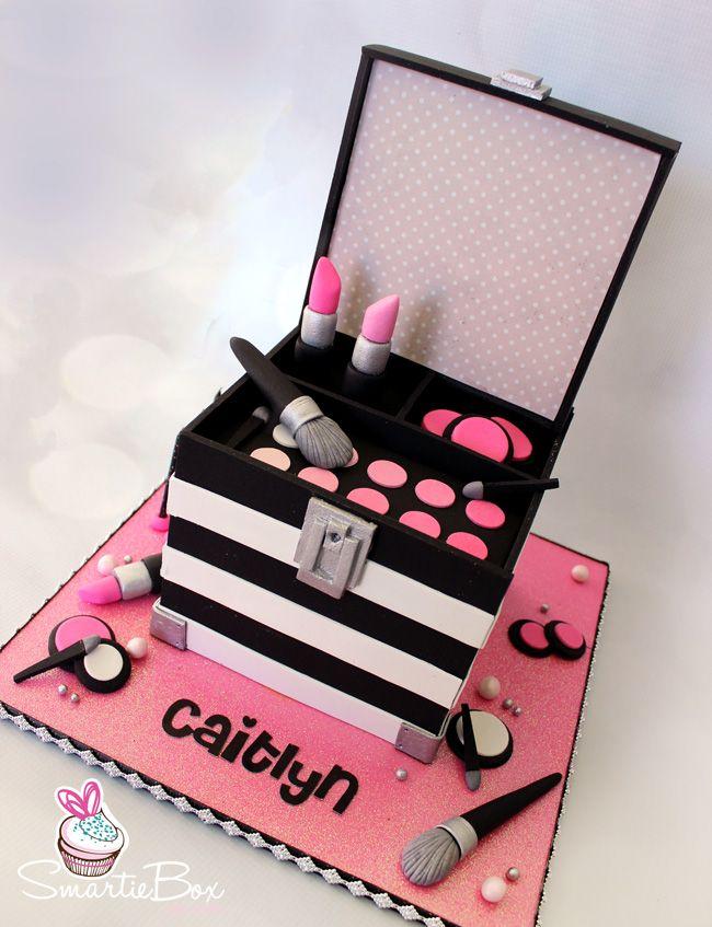 Make Up Box Cake Smartiebox Cake Studio Everything Pinterest