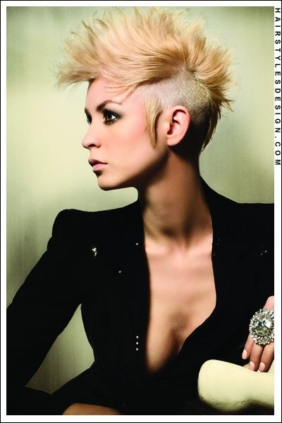 edgy styles for hair edgy haircut sides with a bleached 9181