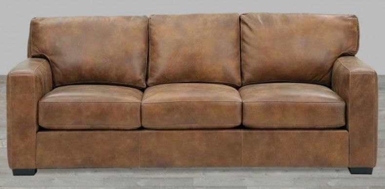 Superbe Distressed Leather Couch For Sale