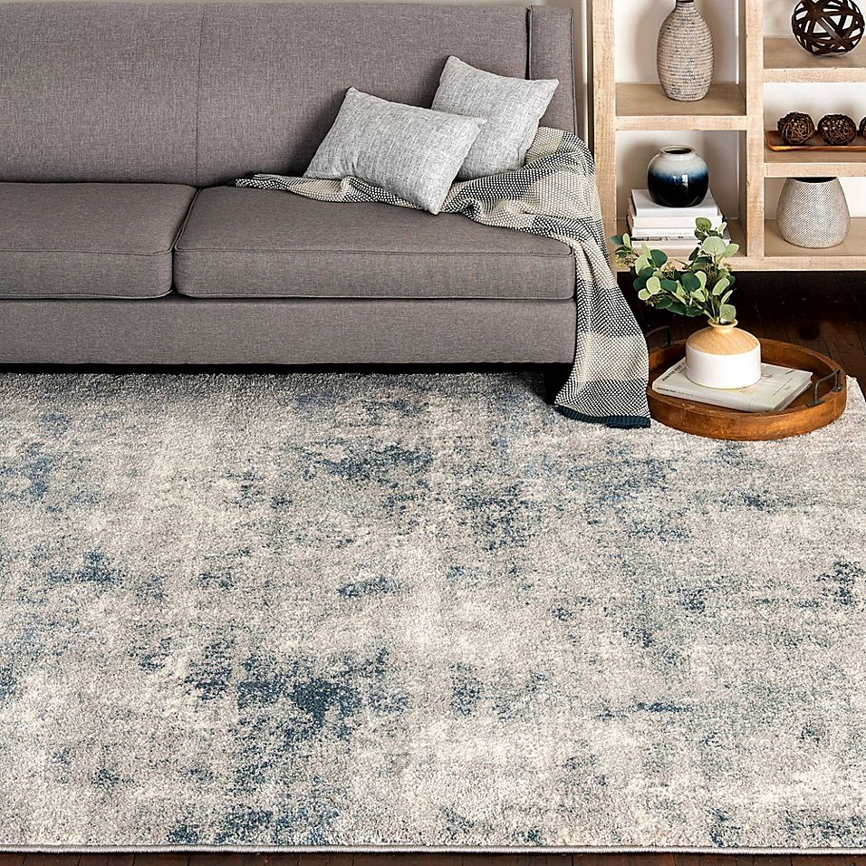 O O By Olivia Oliver Mineral 5 X 7 Multicolor Area Rug Blue In