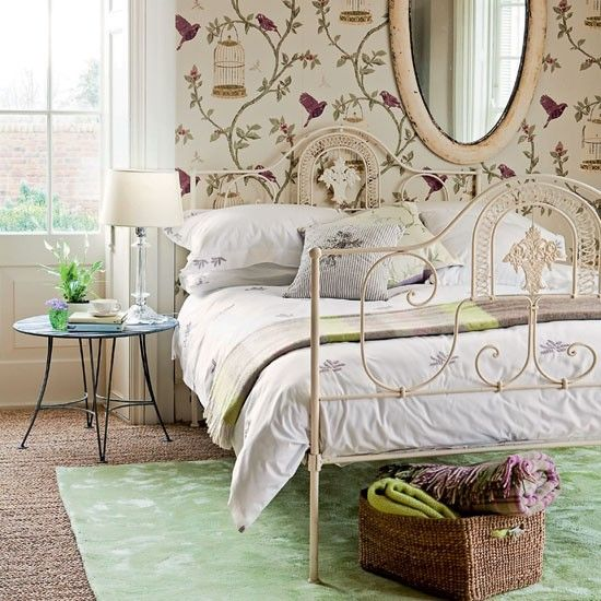 Be Inspired By Bird Wallpaper Country Bedroom..