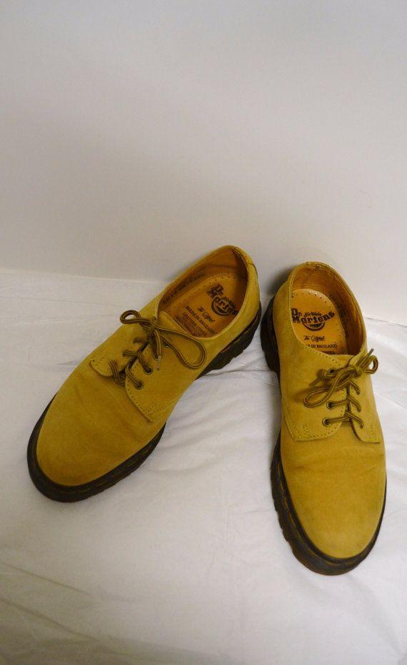 Vintage Doc Martens Nubuck Buttery suede Dijon Mustard Color
