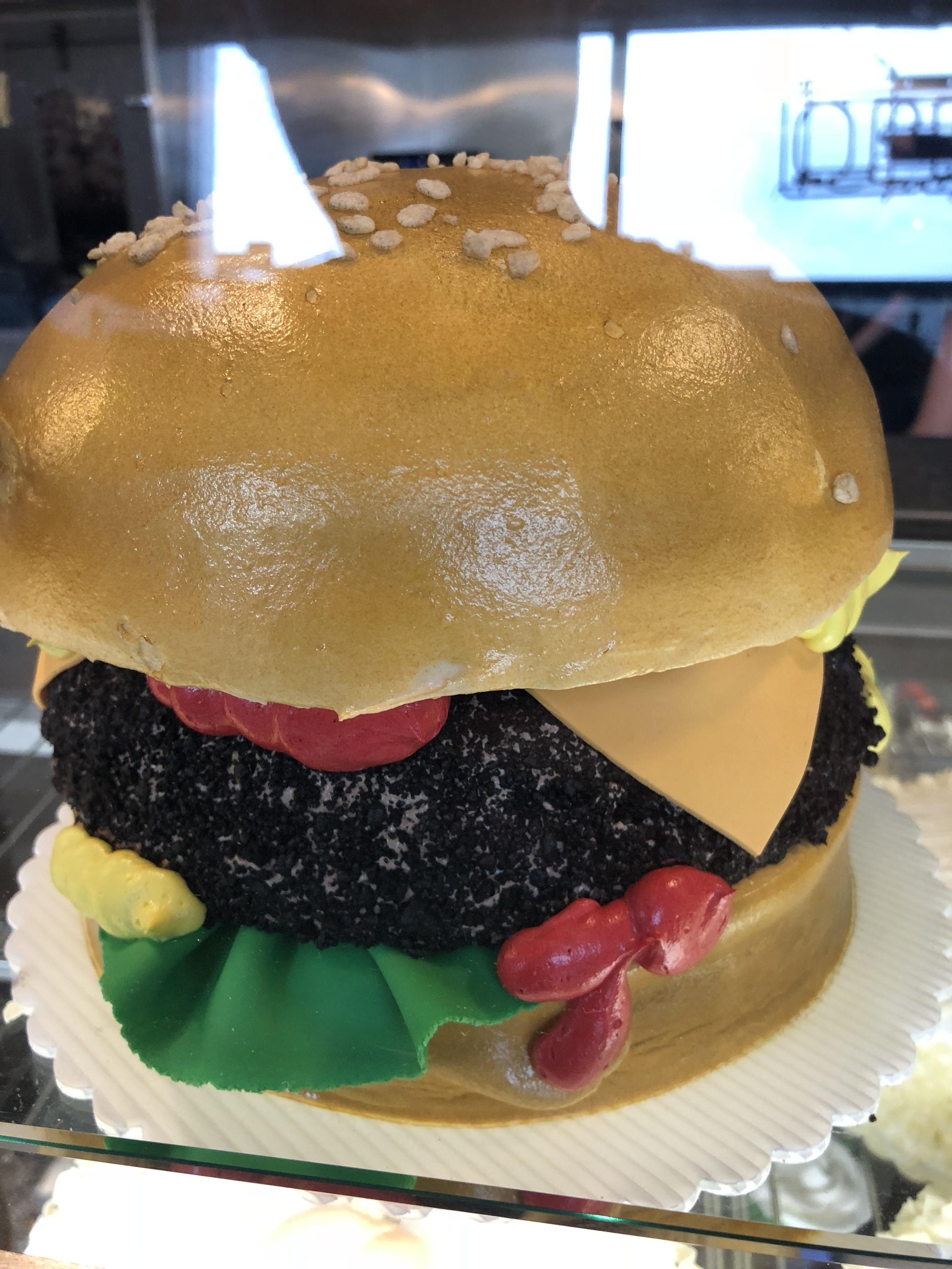 Cake burger at oakmont bakery in pa prochef food
