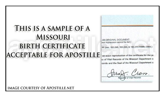Saint Louis County State of Missouri birth Certificate signed by – Birth Certificate Sample