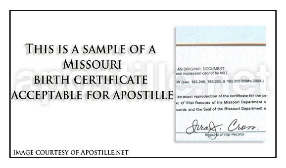 missouri birth certificate for apostille | state of missouri sample ...
