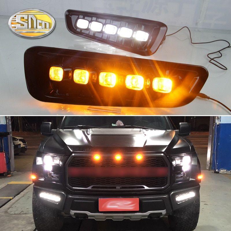 LED DAYTIME RUNNING LIGHT FOG LAMP W// TURN SIGNAL DRL FOR Ford F150 Raptor 2016+