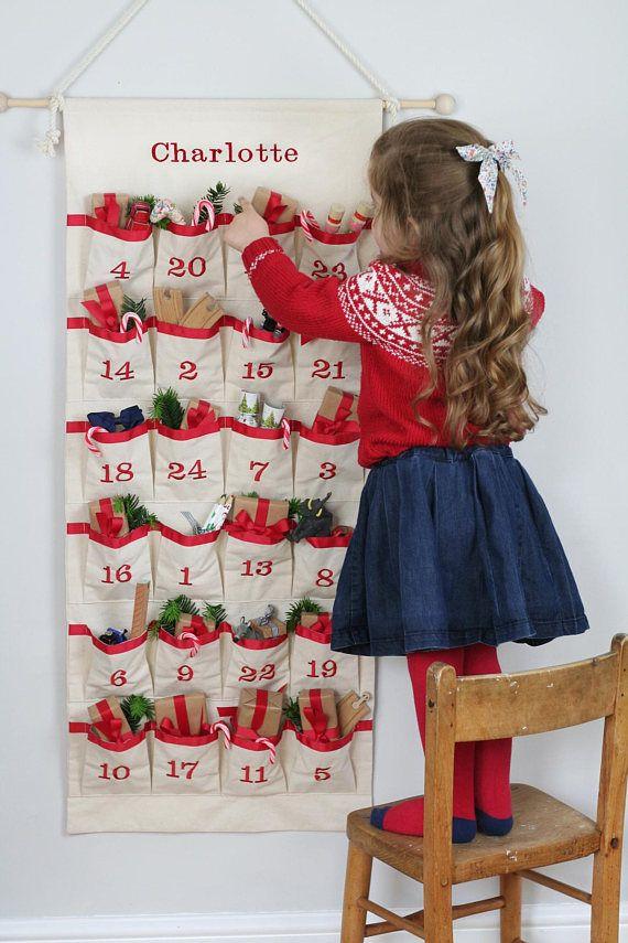 Advent Calendar - Fabric Advent - Christmas Countdown Calendar