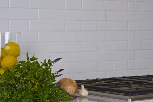 Matte White Tile Backsplash And Tile From Dettile Com