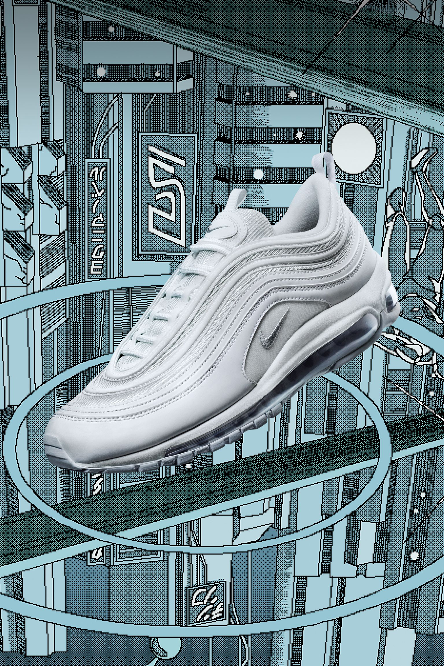 Nike Air Max 97 Tiple White - 921826 101 | Nike air max