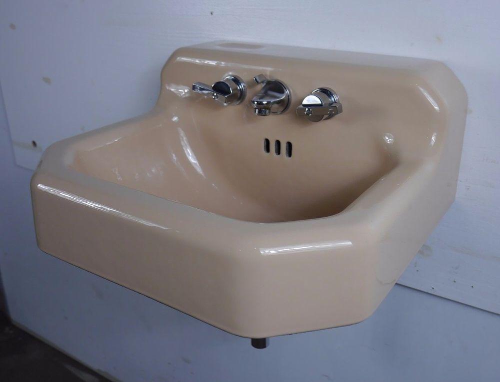 Antique Vintage American Standard Bathroom Sink Ledgewood Persian Brown 1960 S Sink Bathroom Sink Bathroom Accessories Luxury