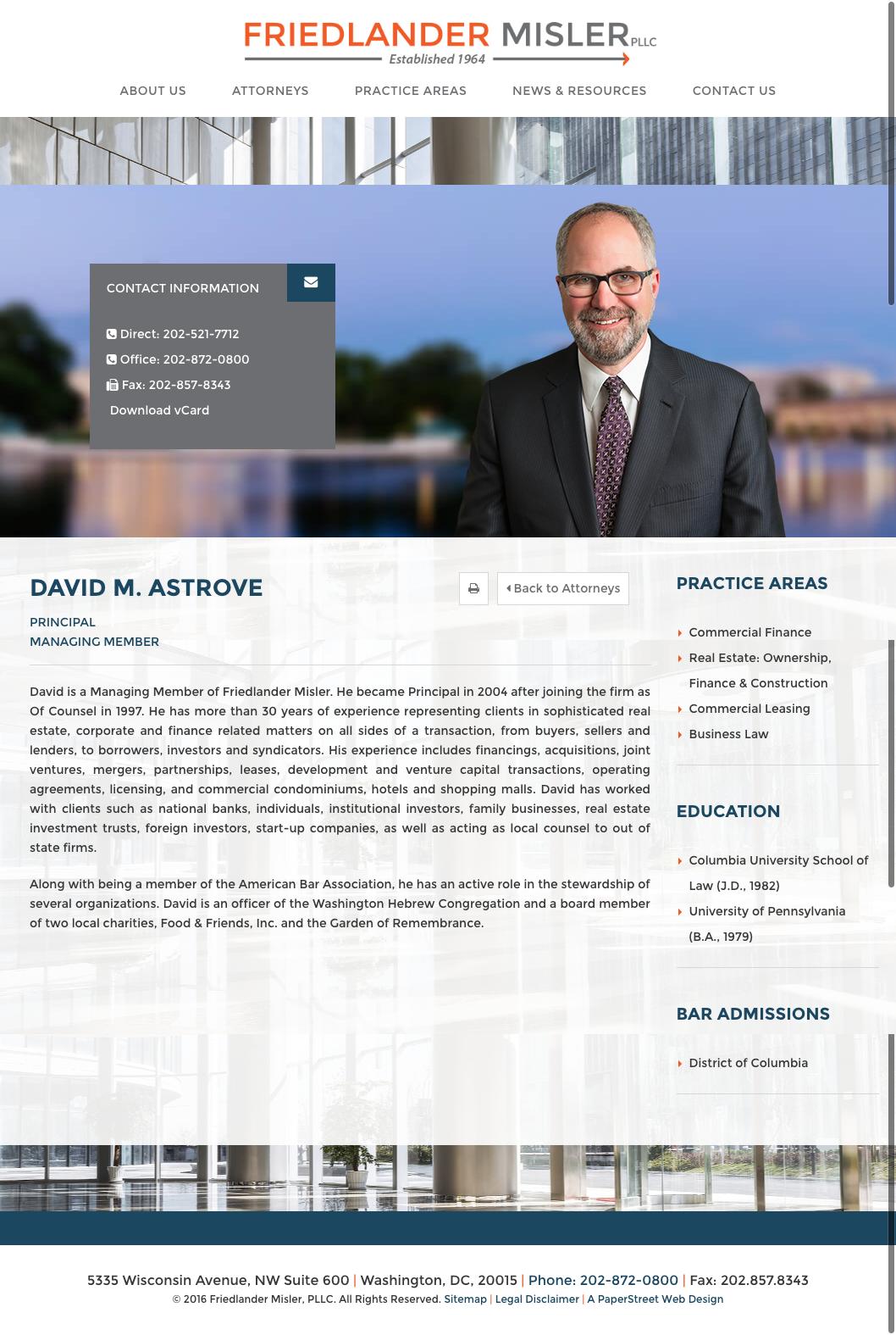 Lawyer Bio Paperstreet Lawyer Us Attorney Web Design