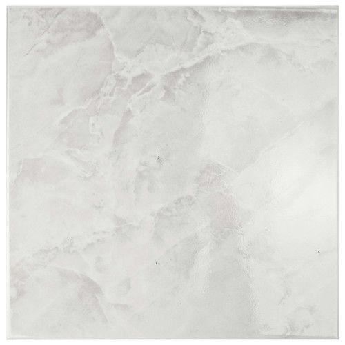 Elitetile Alpha 11 75 X 11 75 Ceramic Field Tile In White Gray All Modern 2 40 Sf With Images Elitetile White Marble Floor Ann Sacks Tiles