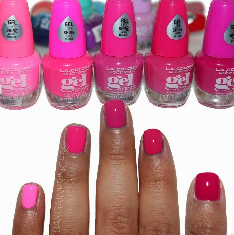 LEFT - RIGHT . .PINK SHADES. . (without top coat). Posh . Untamed ...